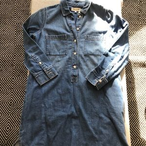 Madewell denim heavyweight shirtdress